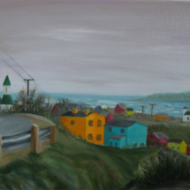 2017 Fishing Village, Newfoundland 16x12 Oil on Canvas