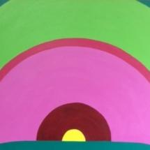 Round N Round 30x24 Acrylic on canvas